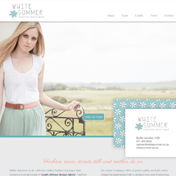 Website and Branding for White Summer Fashion Boutique