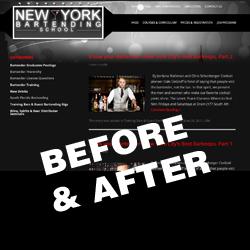 WordPress Website Tweaking: Before and After