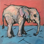 Original painting by Elizabeth Sparg. The Bush Alphabet Project.