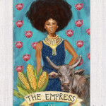 Afro-chic Tarot card design