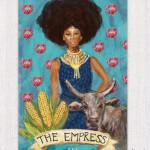 Afro-chic Tarot card design